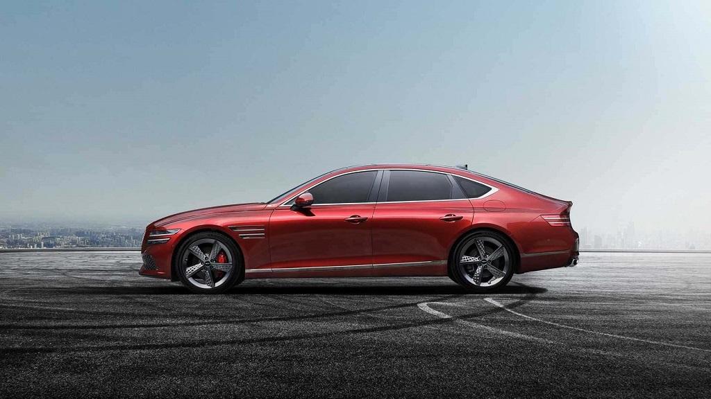 New Genesis G80 Sport Revealed in Cavendish Red, with Rear-Wheel Steering_1